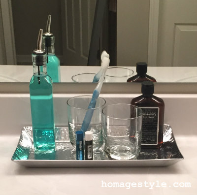 Bathroom counter front