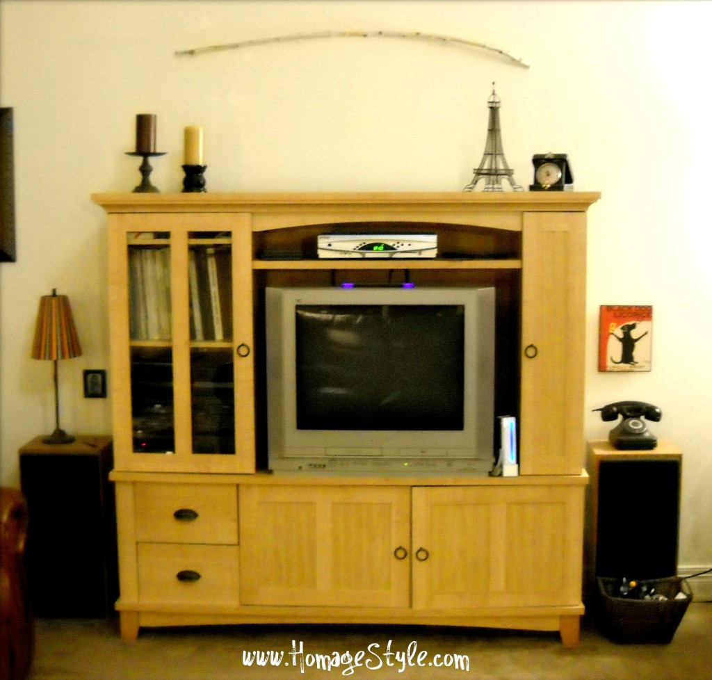 Twig over entertainment center